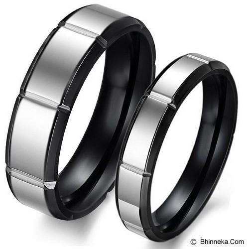 TITANIUM RING Cincin Couple Size 7(F) & 7(M) [GS266] - White & White - Cincin